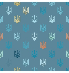Seamless background with the arms of ukraine vector