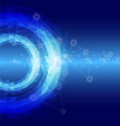 blue abstract backgroud vector image