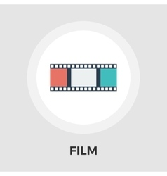 Film flat icon vector