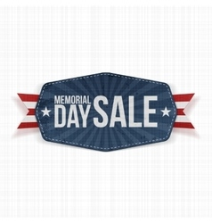Memorial day sale national label with ribbon vector