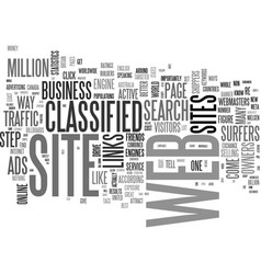 A classified way to drive business to your web vector