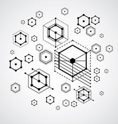 Abstract black and white background created in vector