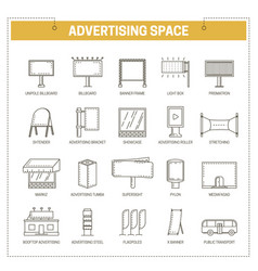 Advertising media constructions spaces thin vector
