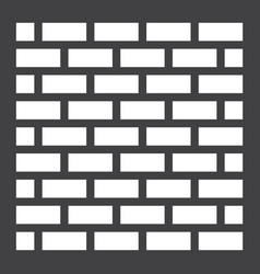 Brick wall solid icon security and build vector