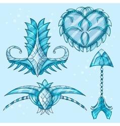 Cartoon beautiful winter artifacts vector image vector image