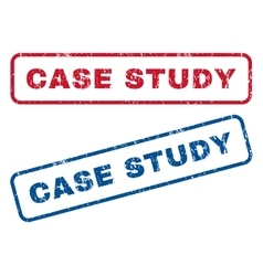 Case study rubber stamps vector