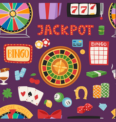 casino game gambling symbols blackjack cards money vector image