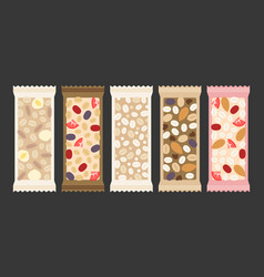 Cereal and granola bar vector