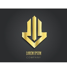 Creative logo design template Golden symbol vector image