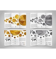 Design folding brochures with polygonal elements vector