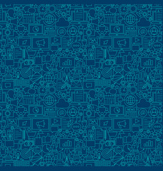 digital marketing line seamless pattern vector image