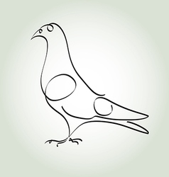 Dove in minimal line style vector image vector image