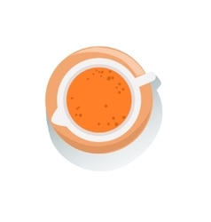 Jug of fresh orange fruit juice view from above vector