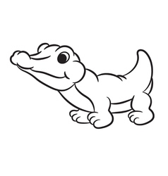 krokodile black and white vector image