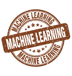 Machine learning brown grunge stamp vector