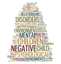 Mental health in negative environments text vector