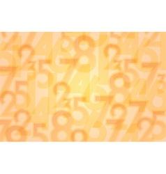 numbers orange background vector image