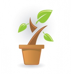 plant icon vector image vector image