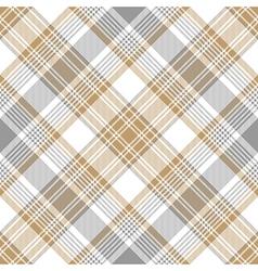 Platinum gold tartan diagonal seamless pattern vector