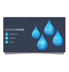 Plumbing business card concept vector