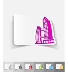 Realistic design element singapore building vector