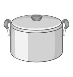 Saucepan icon cartoon style vector