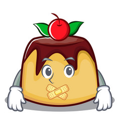 Silent pudding character cartoon style vector