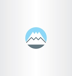 Snow mountain icon sign symbol vector