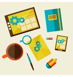 Web design development workflow vector