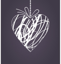 wedding heart2 vector image