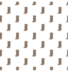 Women boots high heel pattern cartoon style vector