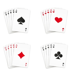 Royal straight flush set vector