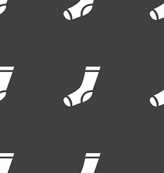 socks icon sign Seamless pattern on a gray vector image