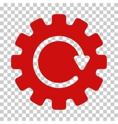 Gearwheel rotation icon vector
