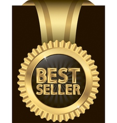 Best seller golden label vector image