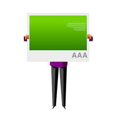 Icon man holding picket vector