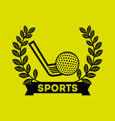 Golf sport emblem icon vector