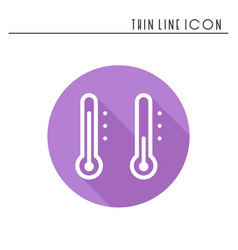 Thermometer line simple icon weather symbols vector