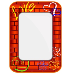 brick frame vector image