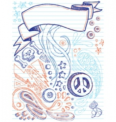 notebook doodles vector image