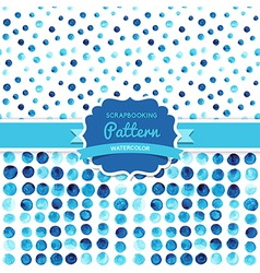 Watercolor circles seamless pattern tiled retro vector