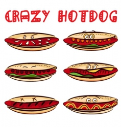 crazy hotdog vector image