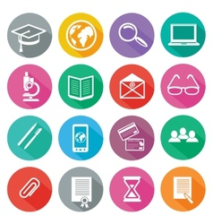 Icon set for professional training and elearning vector