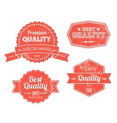 Old red retro vintage grunge labels vector image