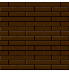 Seamless brown brick wall background vector