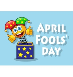 Fun april fools day vector