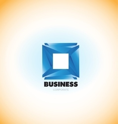 Business corporate blue square logo vector
