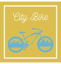 City bicycle vintage bike background vector
