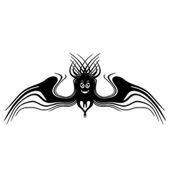 Fantasy monster with wings tattoo isolated vector