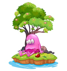 A poisoned monster in an island vector image vector image